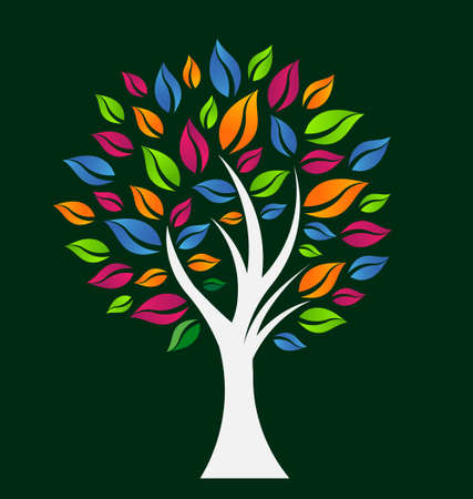 Happy Color Tree Vector