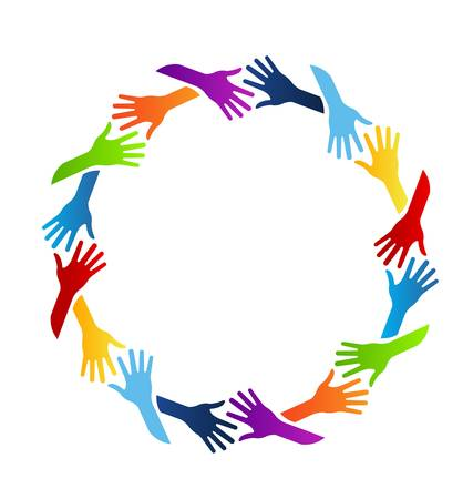 Community Hands Circle Stock Vector - 21747796