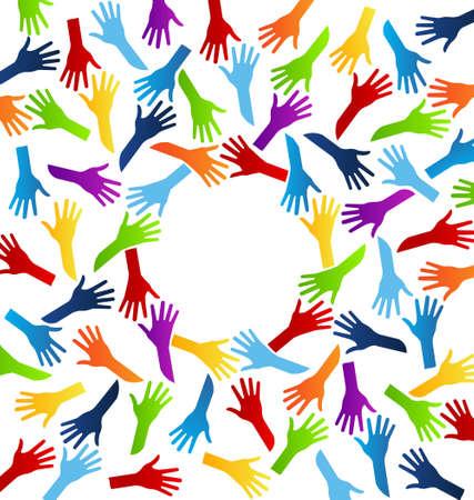 World Team Hands 向量圖像