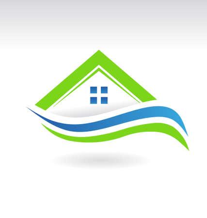 housing estate: Modern Estate House Icon