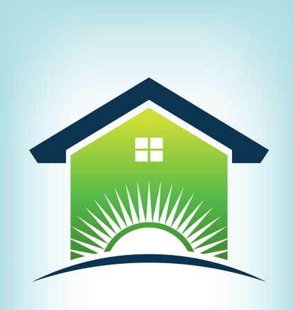 Solar House Logo Stock Vector - 21953843