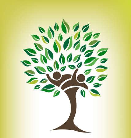 Friends Tree Logo 일러스트