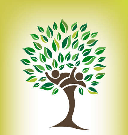 Friends Tree Logo Vector