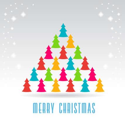 align: Trees Christmas Tree Illustration
