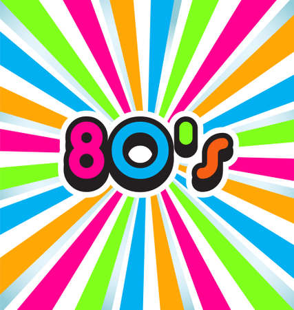 80s pop art background Vector