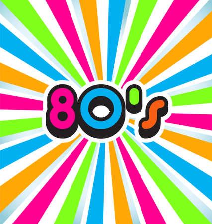 casette: 80s pop art background