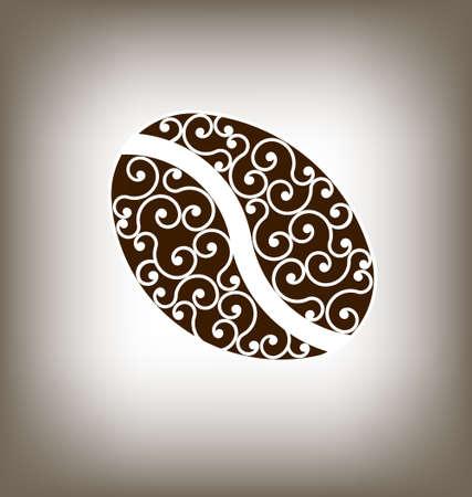 Coffee Vintage Bean Design Element Illustration