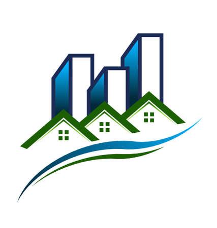 real estate sold: Real Estate Community Illustration