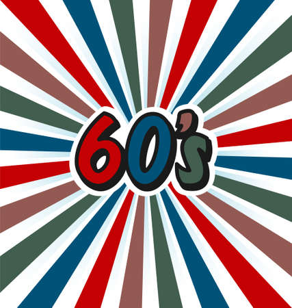 60s vector vintage art background Vector
