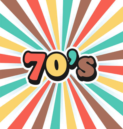 70s vector vintage art background