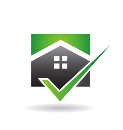 Green Home Check Stock Vector - 22840269