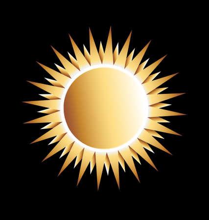 Gold Sun Vector