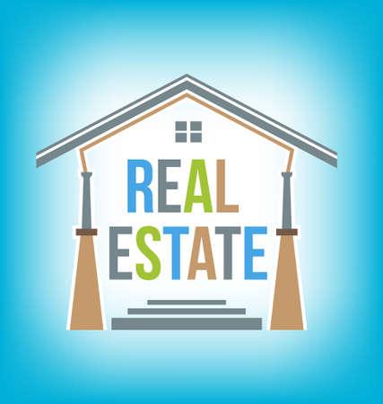 icone immobilier: Immobilier ic�ne Vecteur