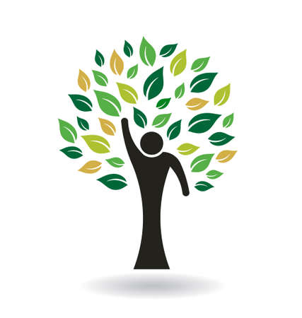 Hi 5 People Tree Vector