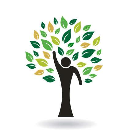 plats: Hi 5 People Tree Illustration