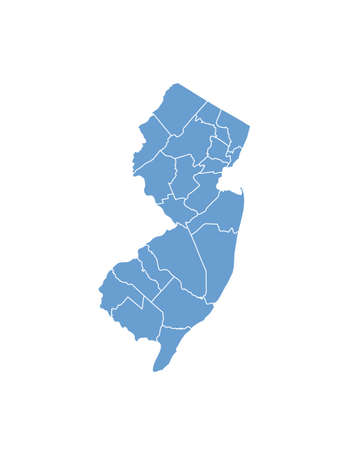 New Jersey State by counties Vector