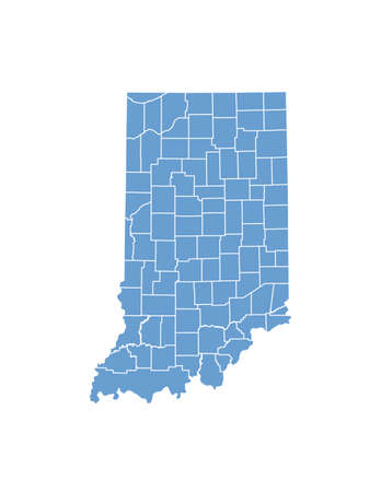 counties: Indiana State by counties Illustration