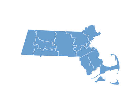 Massachusetts State by counties