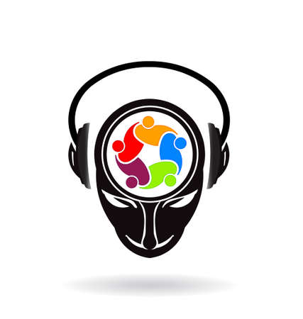 DJ Mind People Ilustrace