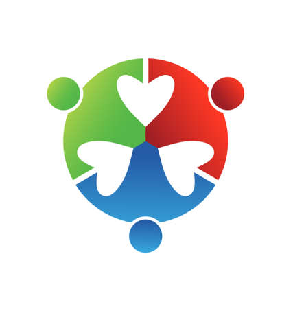 Business icon design  Heart connected 3