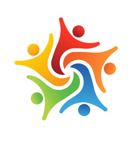 Team-Erfolg 6 Design-Icon Standard-Bild - 23650025