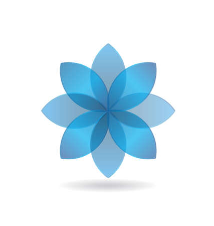 Stylish Blue Flower