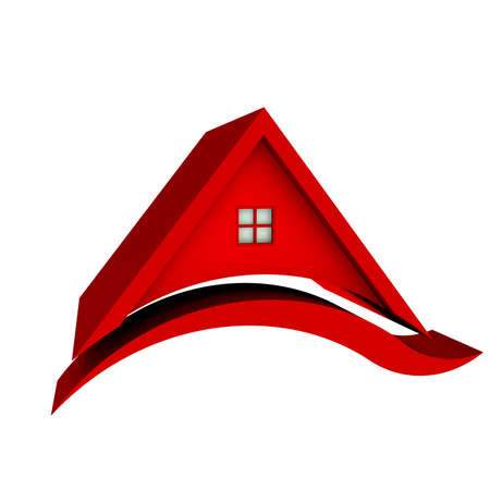 sold small: Red Roof House with Swoosh