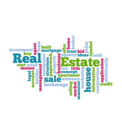 Real Estate Word Cloud icon Vector