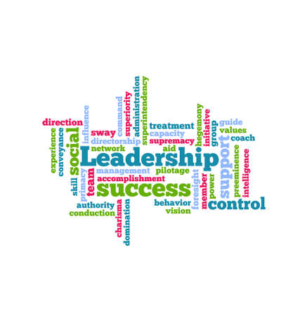 vision mission: Leadership Word Cloud icon