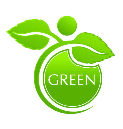 mother earth: Green People Plant icon  Illustration