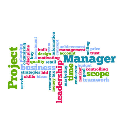 Project Manager Word Cloud  Vector