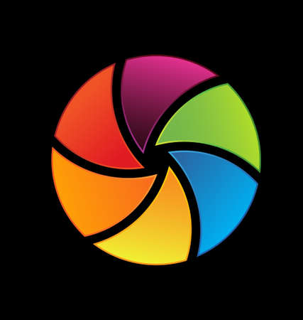 Colorful shutter icon