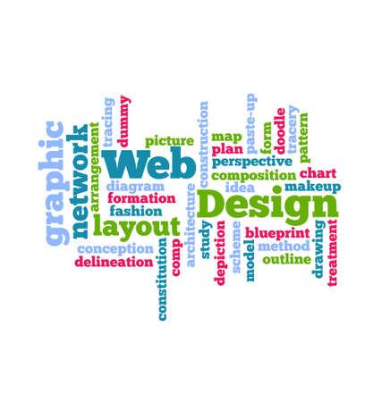 Web Design Word Cloud  Stock Vector - 24475627