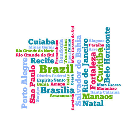 Brazil Word cloud Vector
