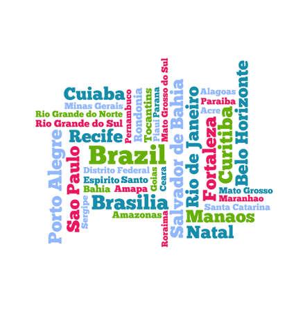 Brazil Word cloud Ilustracja
