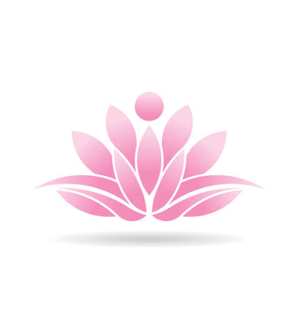 연꽃 아이콘 일러스트
