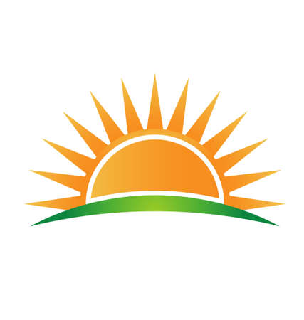 Horizon icône de soleil