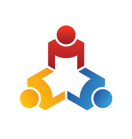 partners: Vector Teamwork Meeting 3