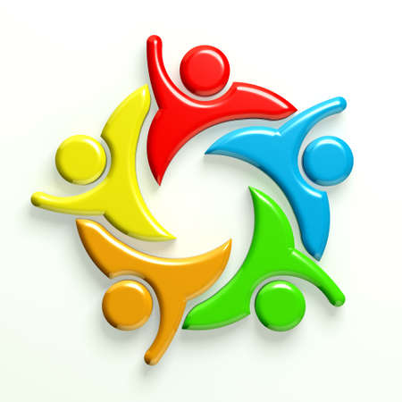 3D Illustration Business Icon Social Friends 5 Stock Illustration - 25103058