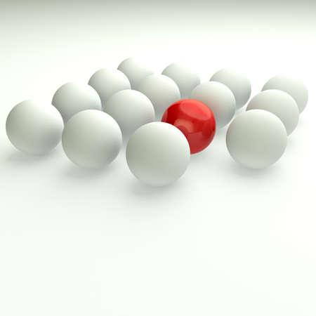 follow the leader: Unique Concept  3d business illustration