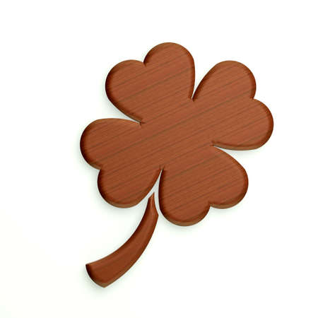 Wooden Clover with four leaves photo