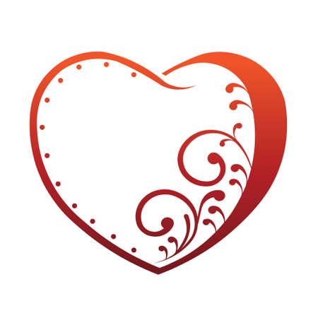 Red Outlined Heart Illustration