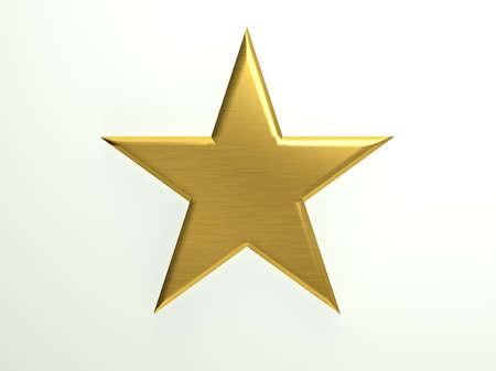 Icona d'oro con texture stella Archivio Fotografico