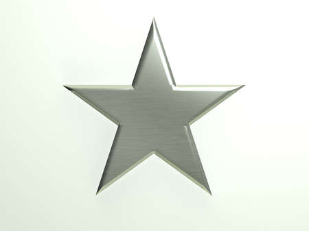 Platinum textured star icon