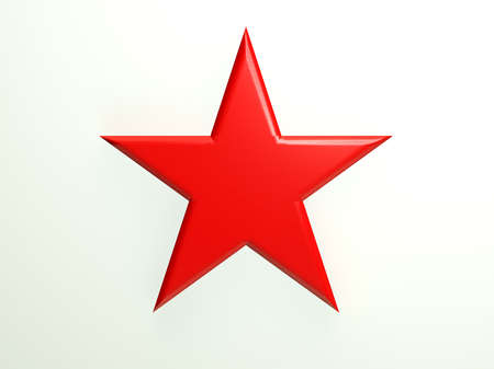 Red textured star icon Stock Photo
