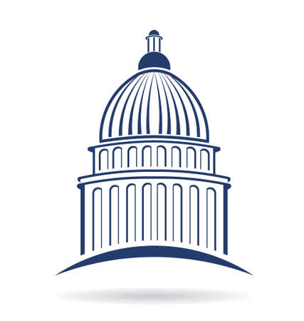 regierung: Capitol cupula Symbol Illustration