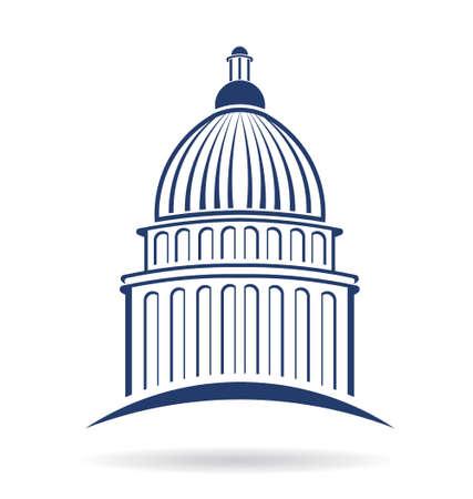 Capitol cupule icône Illustration