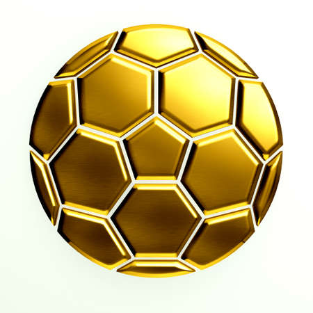 Gold Soccer Ball Icon photo
