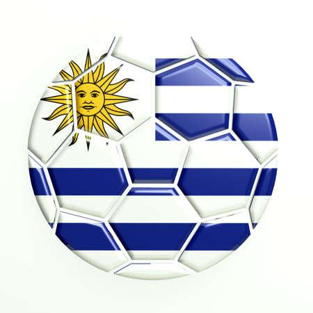 Uruguay Soccer Ball Icon