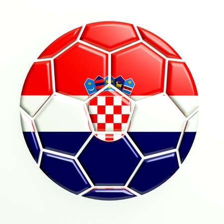 bandera de croacia: Croacia balón de fútbol Icono